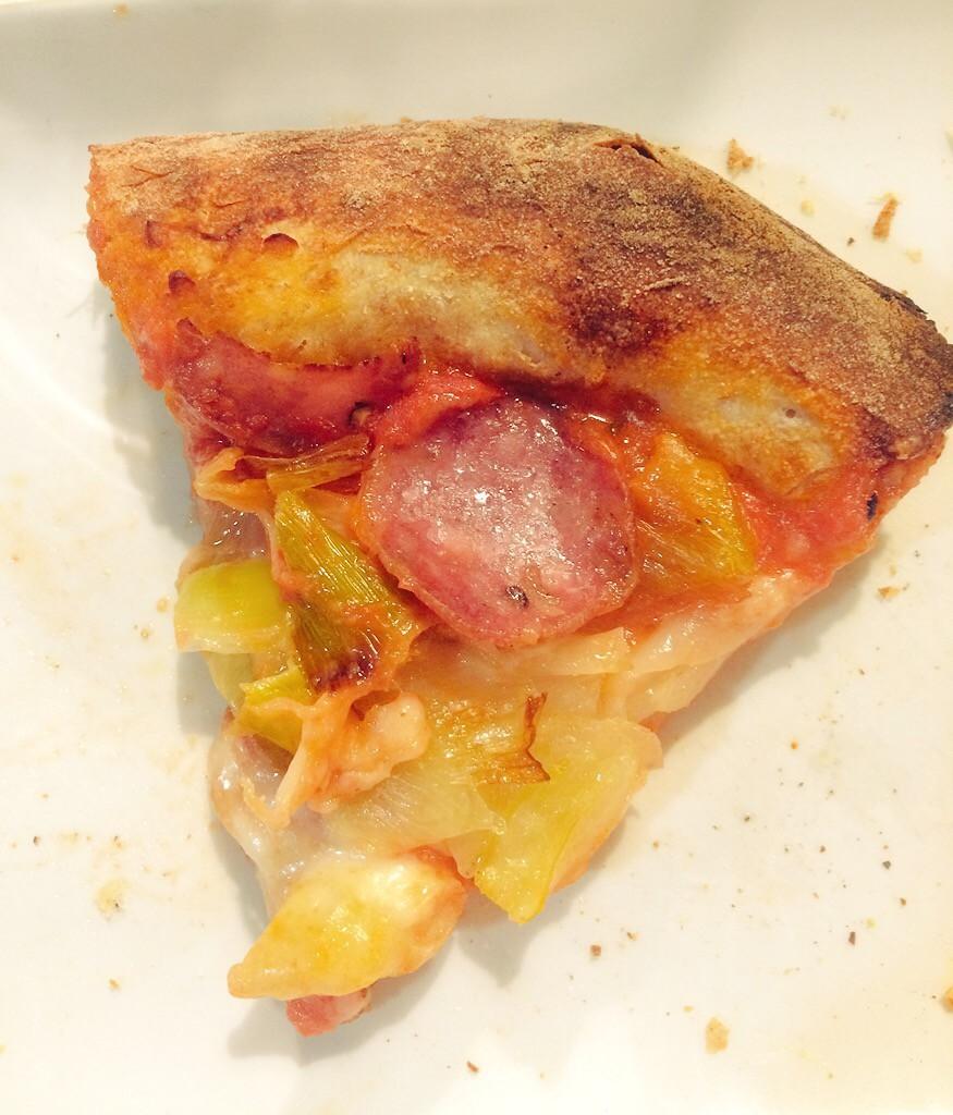 Saporè Renato Bosco Pizza senza lievito porri e storina