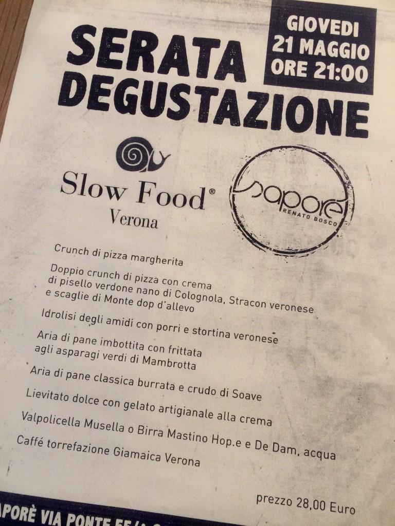 Saporè Renato Bosco menù slow food