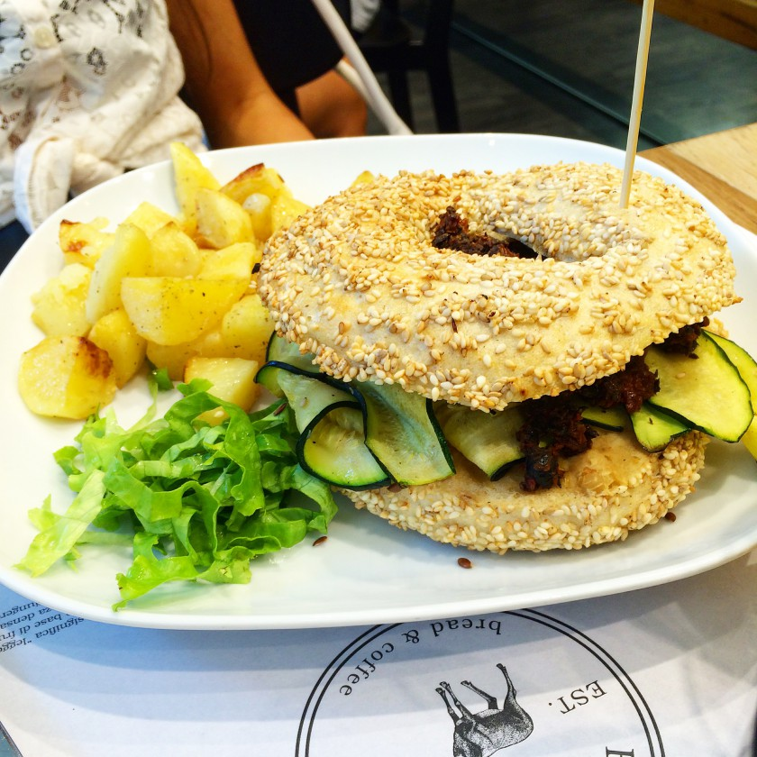 Brunch Elk Bagel Vegetariano