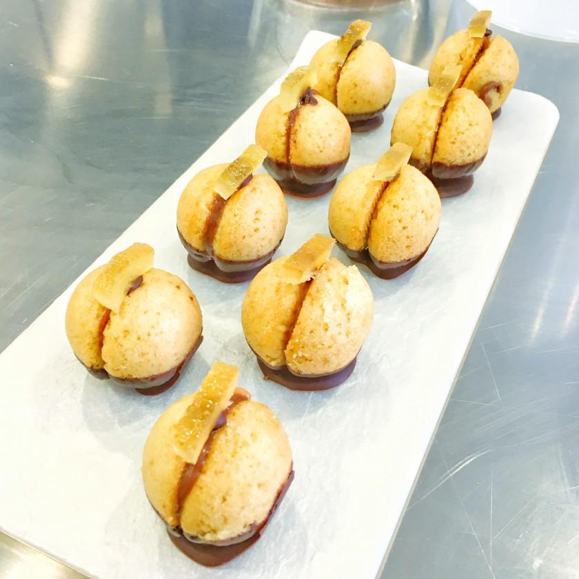 Pan di Spagna alle Mandorle con Cremoso al Cioccolato e Limone candito diego corsara